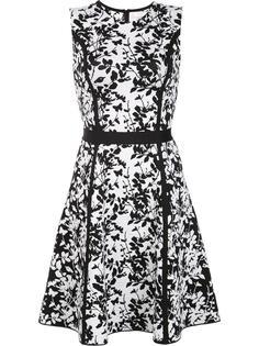 трикотажное платье с цветочным рисунком Carolina Herrera