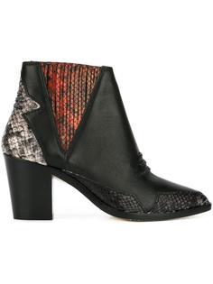 ботинки с эффектом змеиной кожи Diesel
