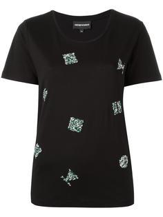 декорированная футболка Emporio Armani