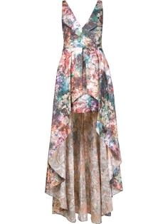 printed high low gown  Marchesa Notte