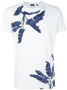 футболка с тропическим принтом Diesel