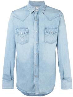 рубашка с нагрудными карманами Saint Laurent