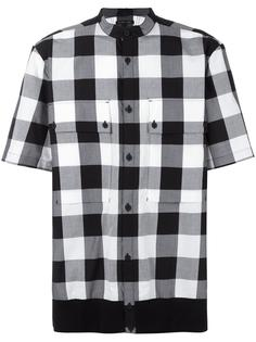 клетчатая рубашка с короткими рукавами Helmut Lang