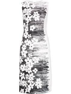 платье шифт с цветочным узором Carolina Herrera