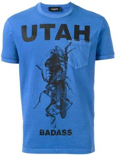 футболка 'Utah mantis' с нагрудным карманом Dsquared2
