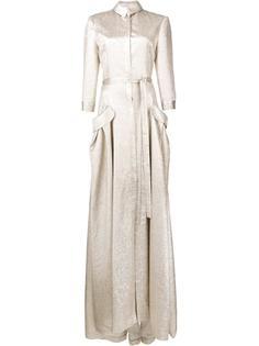 вечернее платье с поясом Carolina Herrera