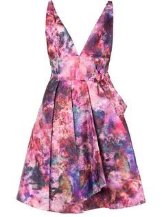 flared flower dress Marchesa Notte