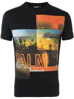 футболка с фото-принтом Dsquared2