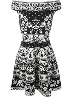жаккардовое мини-платье с цветочным узором Alexander McQueen