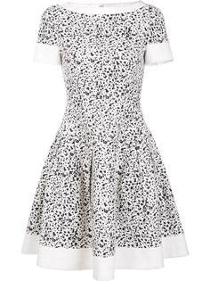 расклешенное платье с пятнистым принтом Carolina Herrera