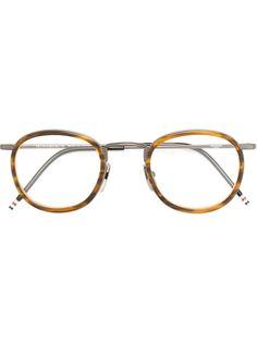 очки с двойной круглой оправой  Thom Browne