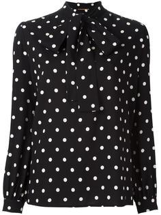 блузка в горошек Saint Laurent