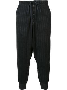 зауженные брюки в тонкую полоску Greg Lauren