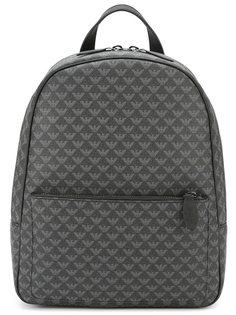 рюкзак со сплошным принтом логотипов Emporio Armani