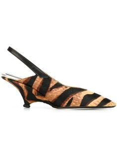 туфли-лодочки 'Pamela' с тигровым узором Kenzo