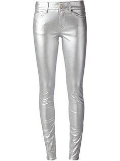 узкие брюки скинни Saint Laurent
