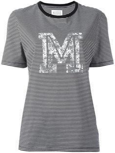полосатая футболка с принтом 'M' Maison Margiela