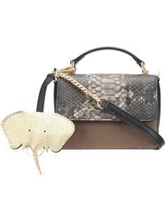 сумка через плечо с эффектом змеиной кожи Christian Siriano