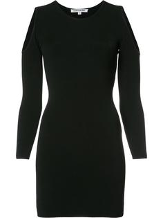 cut-off shoulders fitted dress Elizabeth And James