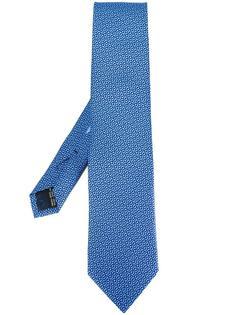 галстук с мелким узором Gancini Salvatore Ferragamo