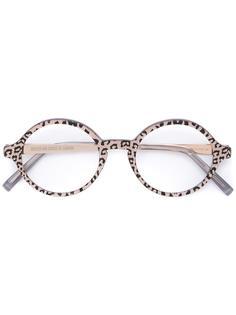 очки с леопардовым узором Cutler & Gross