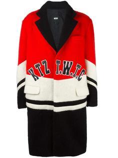 пальто с нашивкой логотипа KTZ
