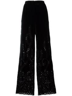 брюки с отделкой 'бродери англез' Alberta Ferretti