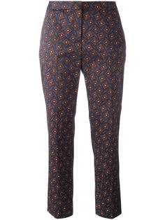 брюки с мелким принтом Burberry Runway