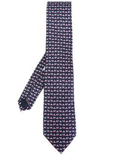 галстук с принтом черепах Salvatore Ferragamo