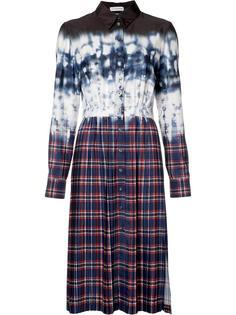 tie-dye plaid shirt dress Altuzarra