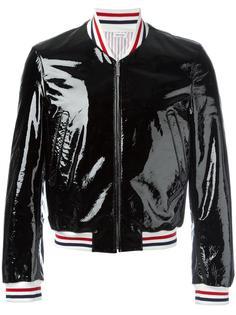 куртка бомбер с отделкой в полоску Thom Browne