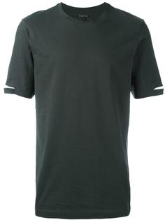 футболка с вырезными деталями Helmut Lang