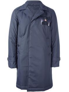 однобортное пальто Undercover