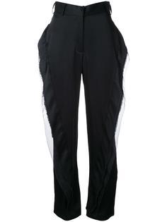 брюки с отделкой оборками Tatuna Nikolaishvili