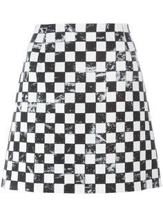 юбка с принтом в клетку Marc Jacobs