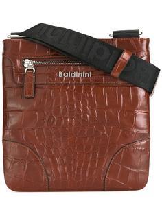 сумка-мессенджер с эффектом крокодиловой кожи Baldinini