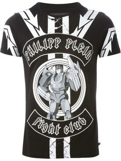 футболка с принтом fight club  Philipp Plein