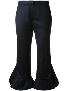 укороченные брюки с оборками Goen.J