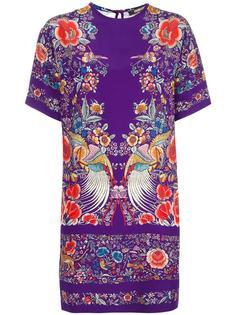 платье с цветочным принтом Roberto Cavalli