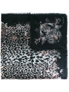 шарф с леопардовым принтом Roberto Cavalli