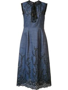 embroidered denim dress Yigal Azrouel