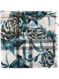 шарф с цветочным принтом Burberry