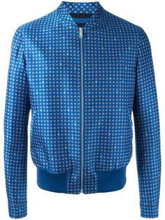 printed bomber jacket Alexander McQueen