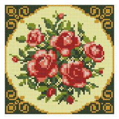 """Алмазная мозаика по номерам """"Букет красных роз"""" 20*20 см (на подрамнике) Tukzar"""