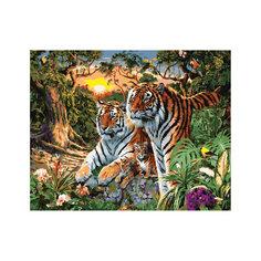 """Роспись по номерам """"Тигры"""" 40*50 см Tukzar"""