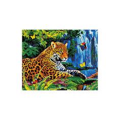 """Алмазная мозаика """"Леопард у водопада"""" 40*50 см Tukzar"""
