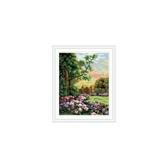 "Алмазная мозаика по номерам ""Калитка в саду"" 40*50 см (на подрамнике) Tukzar"