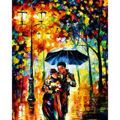 """Алмазная мозаика по номерам """"Прогулка под дождем"""" 40*50 см, с прозрачными стразами Tukzar"""