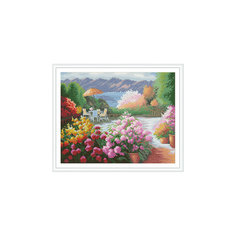 """Алмазная мозаика по номерам """"Патио в цветах"""" 40*50 см (на подрамнике) Tukzar"""