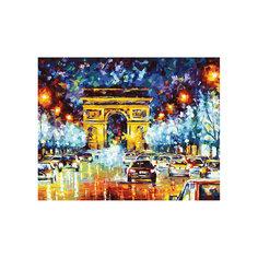 """Роспись по номерам """"Триумфальная арка в Париже"""" 40*50 см Tukzar"""